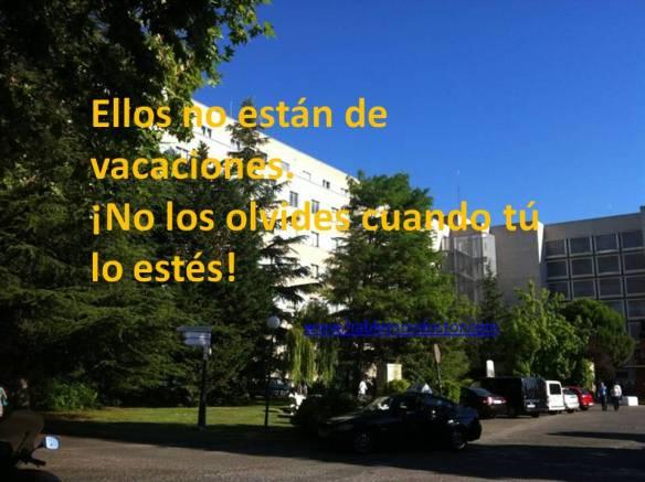 No es un hotel... es un hospital!